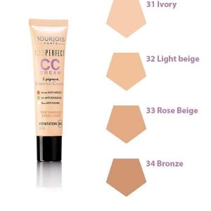 123 Perfect CC Cream krem CC z 3 pigmentami korygującymi 33 Rose Beige 30ml
